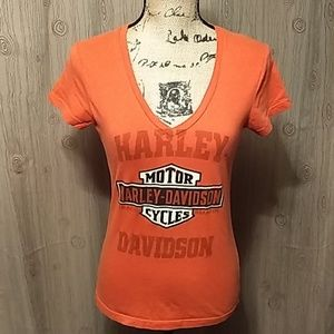 Ladies S Harley Davidson Fitted Graphic Tee